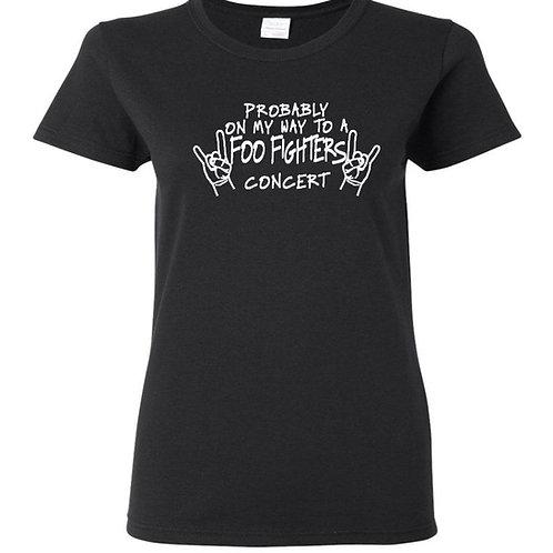 Foo Fighters Concert Ladies Fit T-Shirt