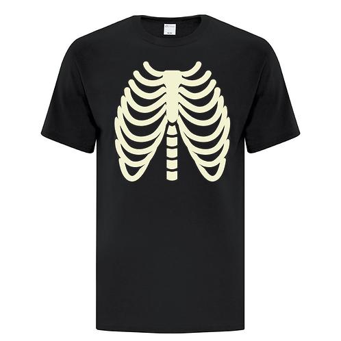 Glow In The Dark Ribcage Halloween Unisex T-Shirt