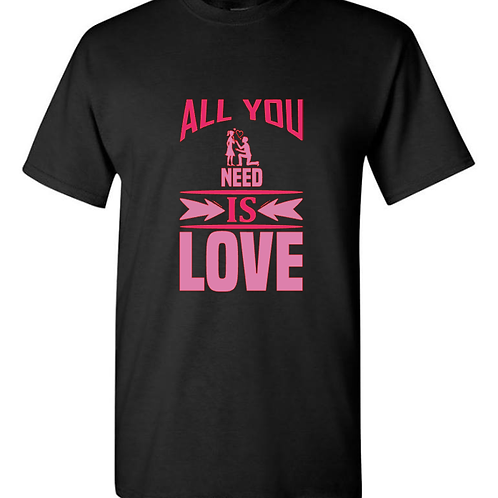 All You Need Is Love Valentines T-Shirt