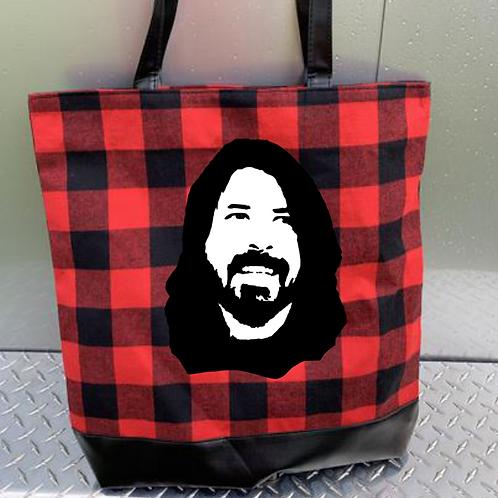 Buffalo Plaid Zippered Tote Bag - Custom Design