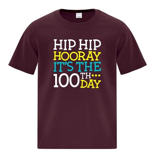 Youth Hooray 100 Days of School T-Shirt