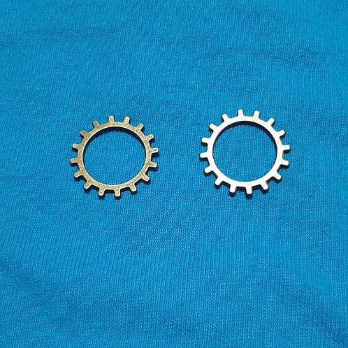 Gear Cog Bronze 19mm Diameter Charm