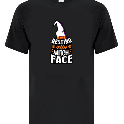 Resting Witch Face Halloween Unisex T-Shirt
