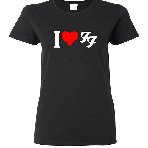 I Love FF Heart Ladies Fit T-Shirt