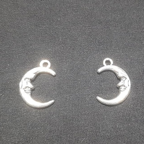 Man in the Moon Silver 20mm Long Charm