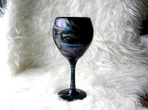 Black Jewels Swirl Large Wine Glass