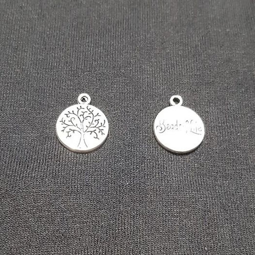 Forbidden Tree Small Silver 15mm Long Charm