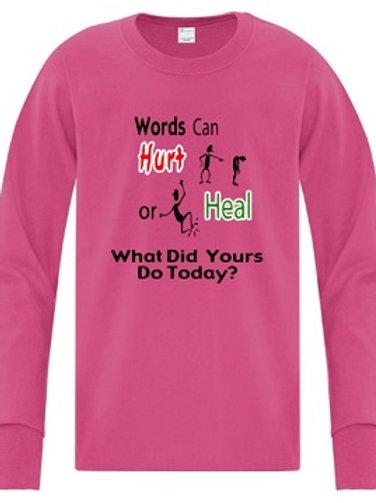 Youth Long Sleeve Anti Bullying T-Shirt