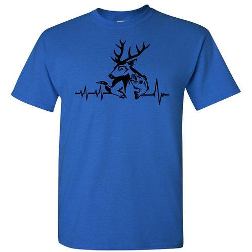 Deer Duck Fish Heartbeat T-Shirt