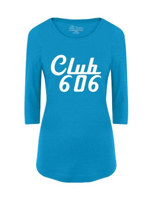 Club 606 Ladies 3/4 Sleeve Shirt - custom Design