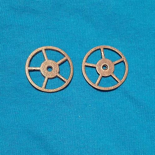Gear Cog Bronze 24mm Diameter Charm