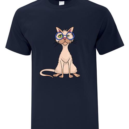 Glasses Cat Unisex T-Shirt