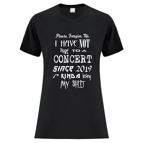 Concert Band Fonts Ladies Fit T-Shirt