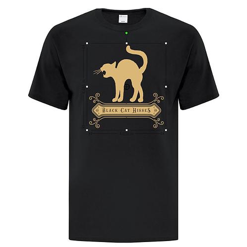 Black Cat Hisses Halloween Unisex T-Shirt