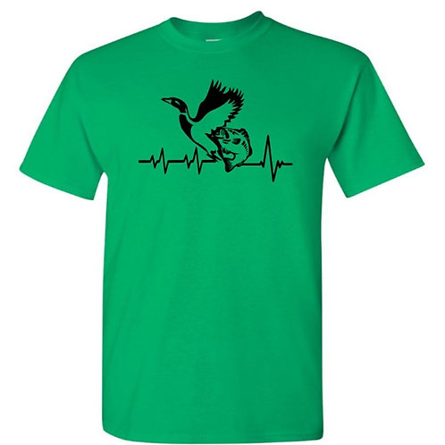 Duck Fish Heartbeat T-Shirt