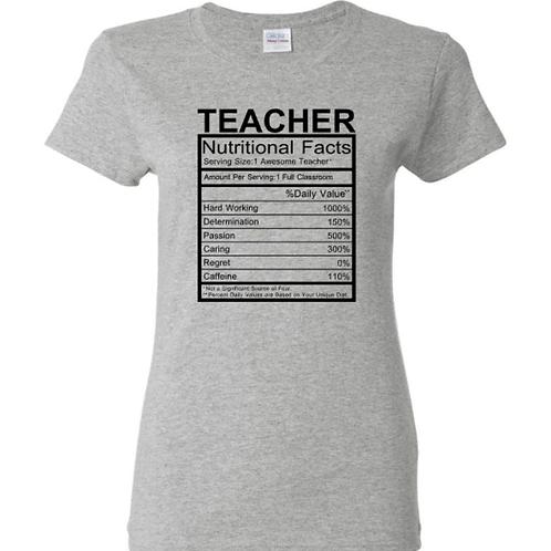 Teacher Nutritional Facts T-Shirt