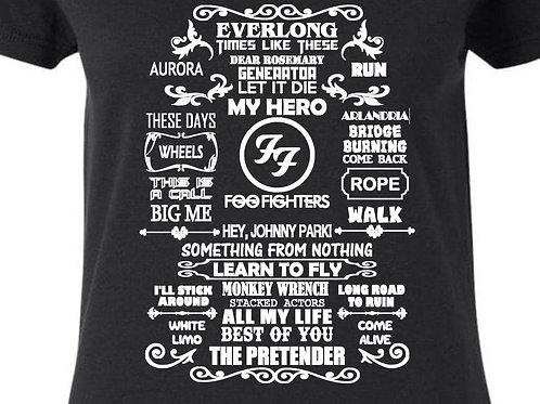 Foo Song Titles Ladies Fit T-Shirt