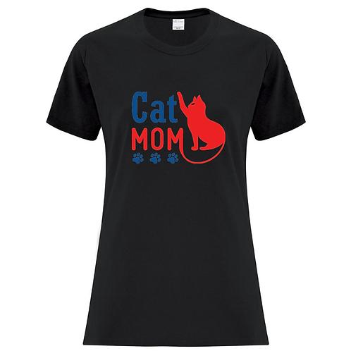 Cat Mom Ladies Fit T-Shirt