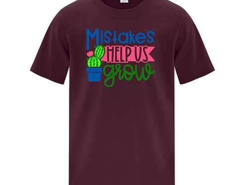 Mistakes Help Us Grow Positivity Kids T-Shirt