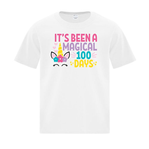 Youth Unicorn 100 Days of School T-Shirt