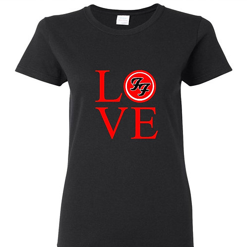 Love Foo Fighters Red Logo Ladies Fit T-Shirt
