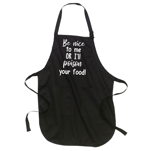 Be Nice Or Poison Apron