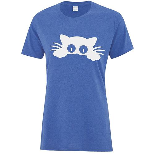 Peekaboo Cat Ladies Fit T-Shirt