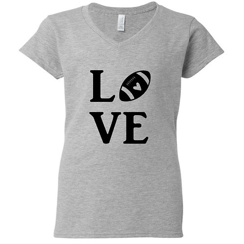 Football Love Ladies T-Shirt