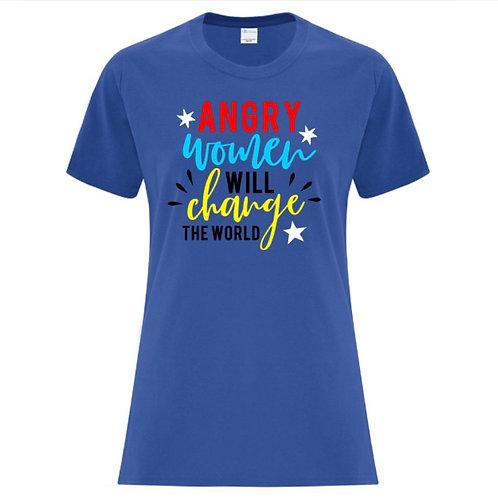 Angry Women Change The World Female Empowerment T-Shirt