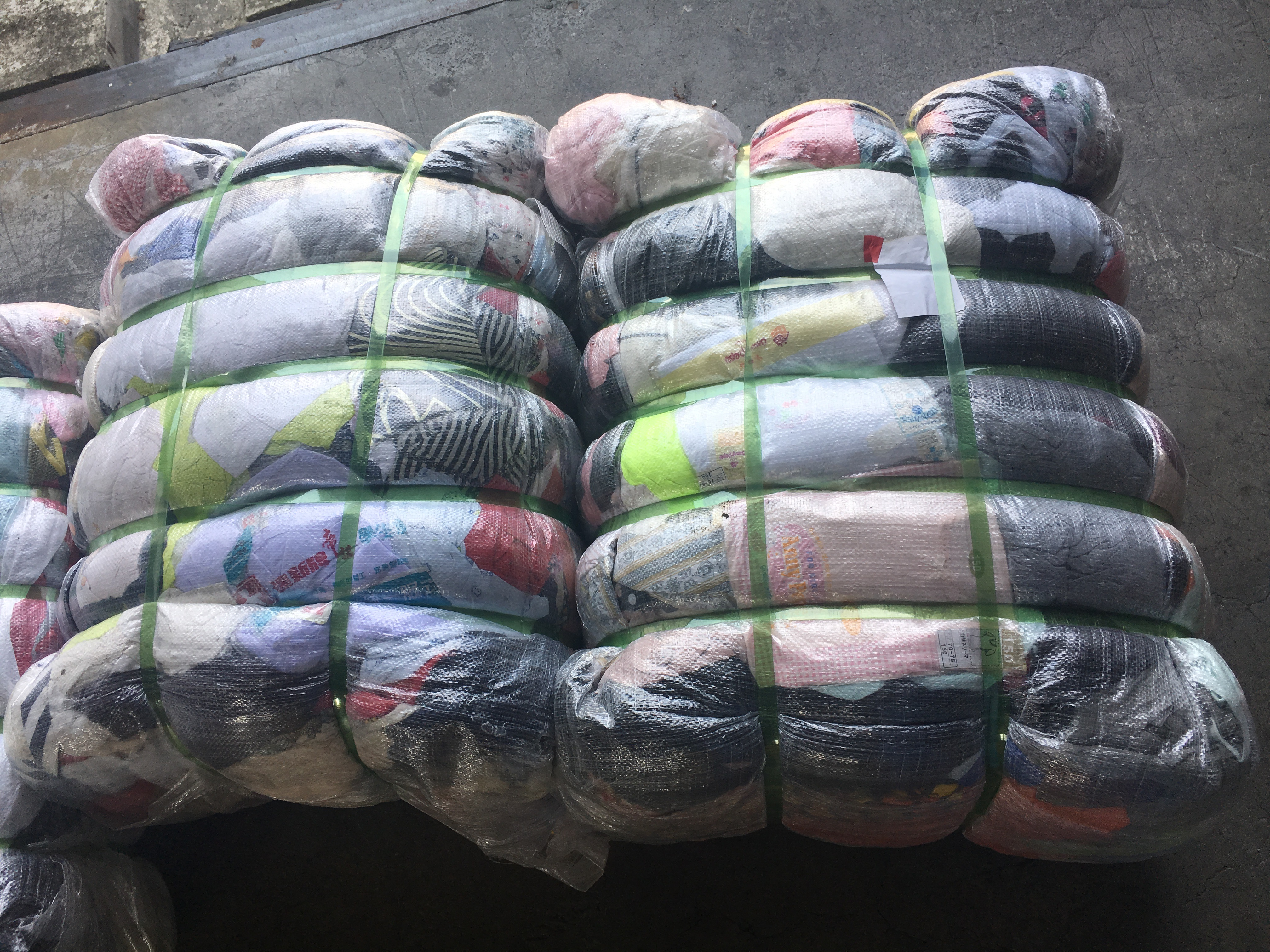 Sorted Used Clothes Bales