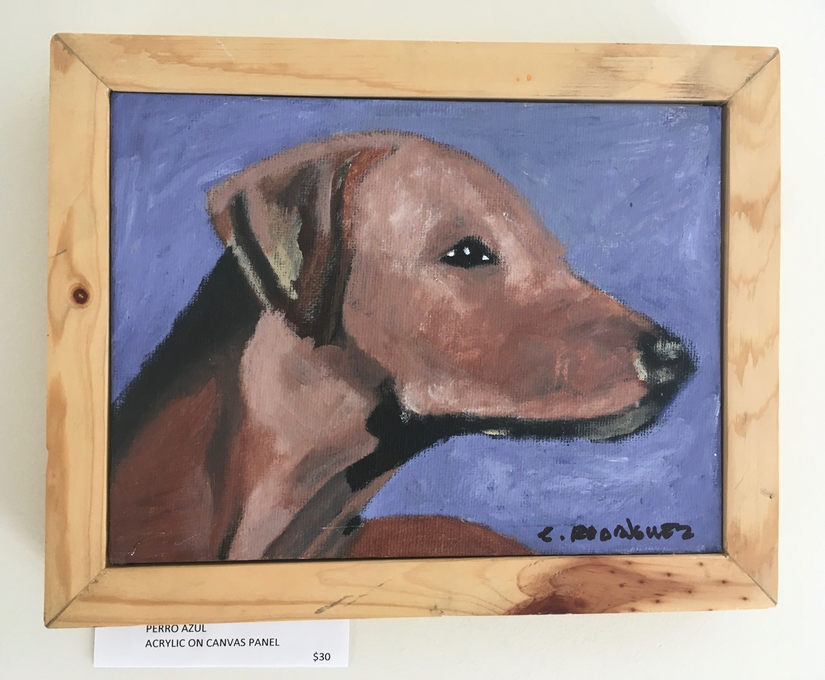 Perro Azul  / Acrylic on canvas panal / $30