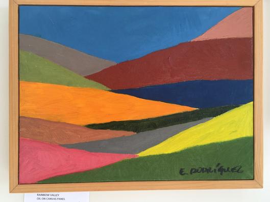 Rainbow Valley / Acrylic on canvas panel / $