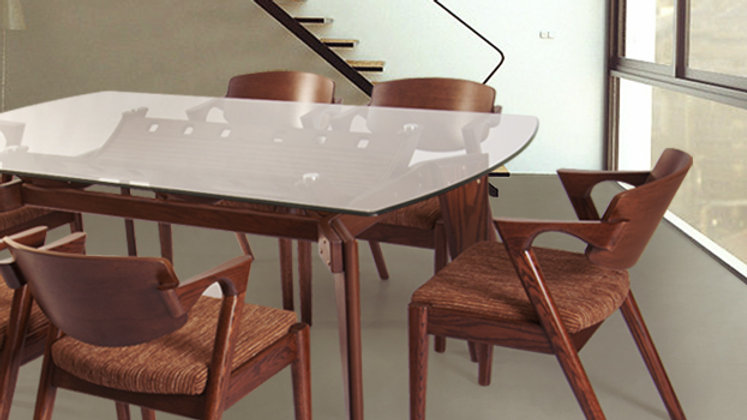 Dining Table HCL-215-128 (with 6 chairs HCL-214-156)
