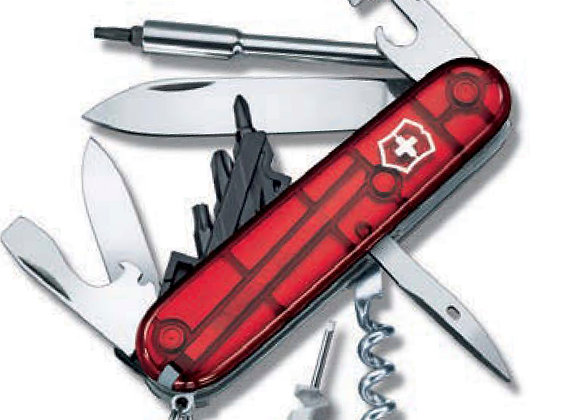 Victorinox Taschenmesser Cyber Tools S, 91mm, 27 Funktionen, rot