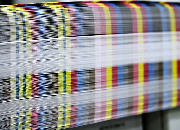 Postkarte und Flyer