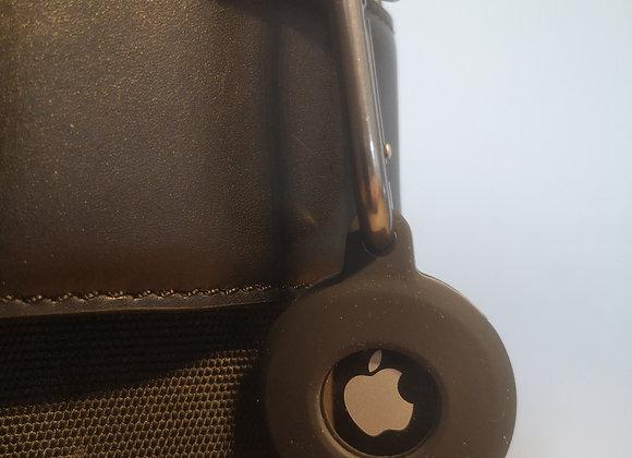 Apple Airtag Anhänger schwarz mit Karabinerhaken
