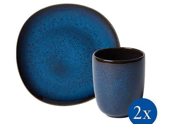 Lave Frühstücks-Set, 4-teilig, für 2 Personen, blau