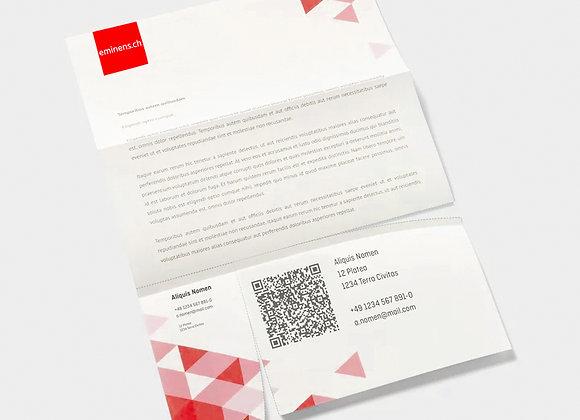 1000 Expl. Briefpapier mit QR Code A4, einseitig bedruckt