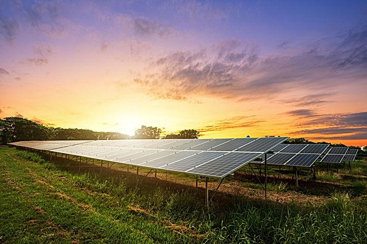 solar-panel-dramatic-sunset-sky-backgrou