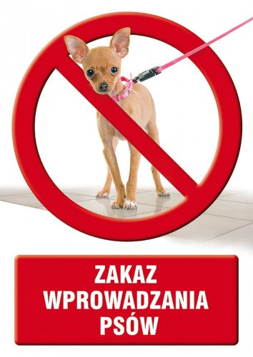 Zakaz wprowadzania psów
