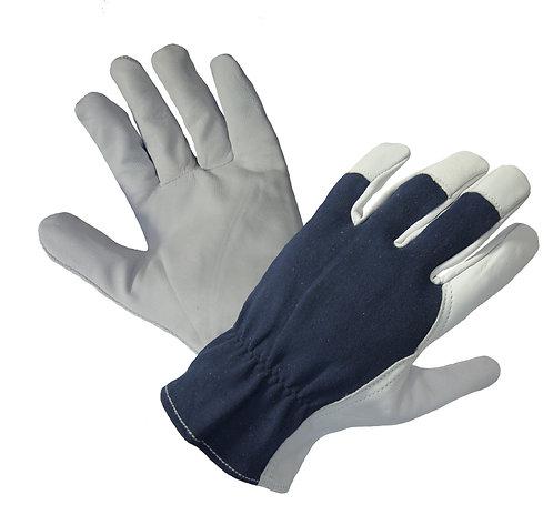 Rękawice ze skóry koziej, strona grzbietowa z dżerseju