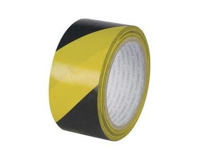 Taśma ostrzegawcza żółto-czarna 100m
