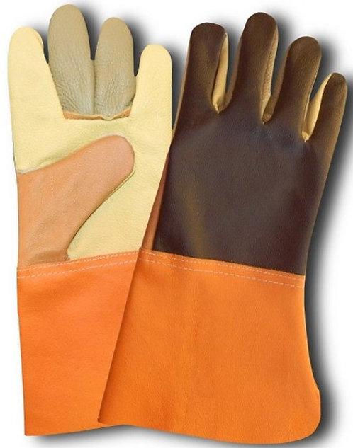 Rękawice skórzane - w całości wykonane ze skóry licowej, kolorowanka