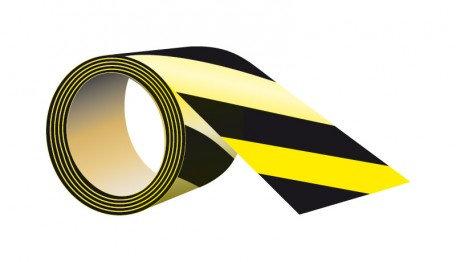 Taśma samoprzylepna na podłogę żółto-czarna