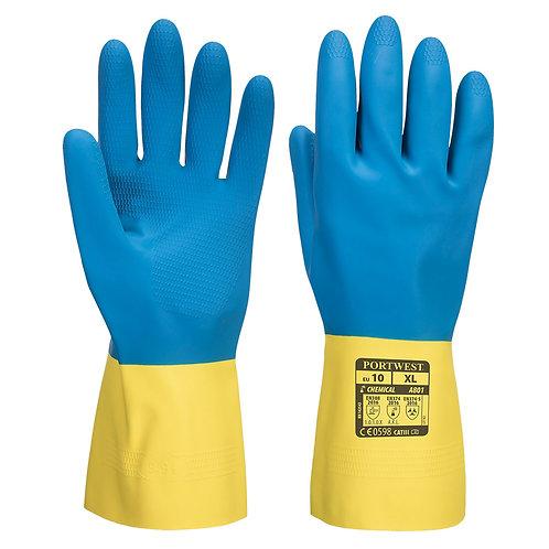 Rękawice przeciwchemiczne lateksowe