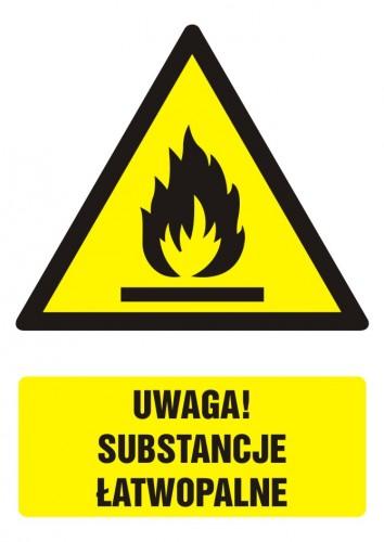 Uwaga! Substancje łatwopalne