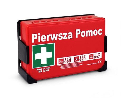 Apteczka Pierwszej Pomocy APA 04 DIN 13157 PLUS czerwona z uchwytem