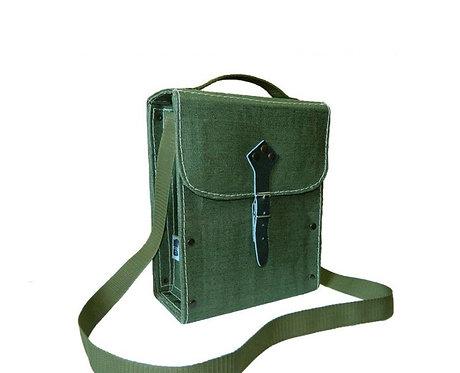 Torba monterska brezentowa zielona 22x28x11