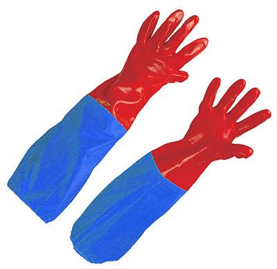 Rękawica z PCV z rękawem