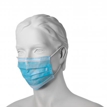 Maska higieniczna z włókniny z gumkami